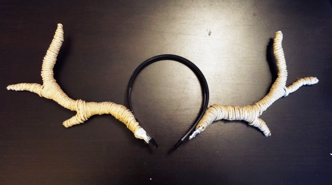 halloween deer antlers- geek by joh - close-up antlers